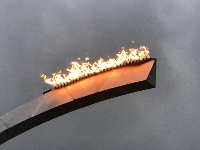 tramway de Douai, l'arche de feu