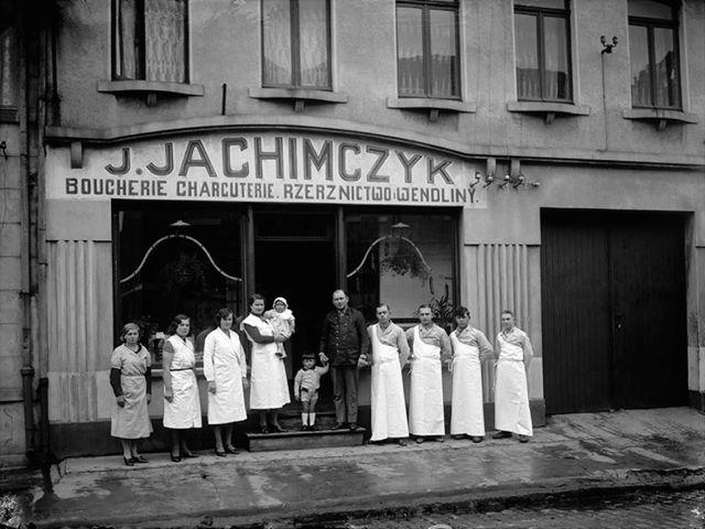 carte postale ancienne de la Boucherie Charcuterie polonaise J. JACHIMCZYK - Pologne à Douai